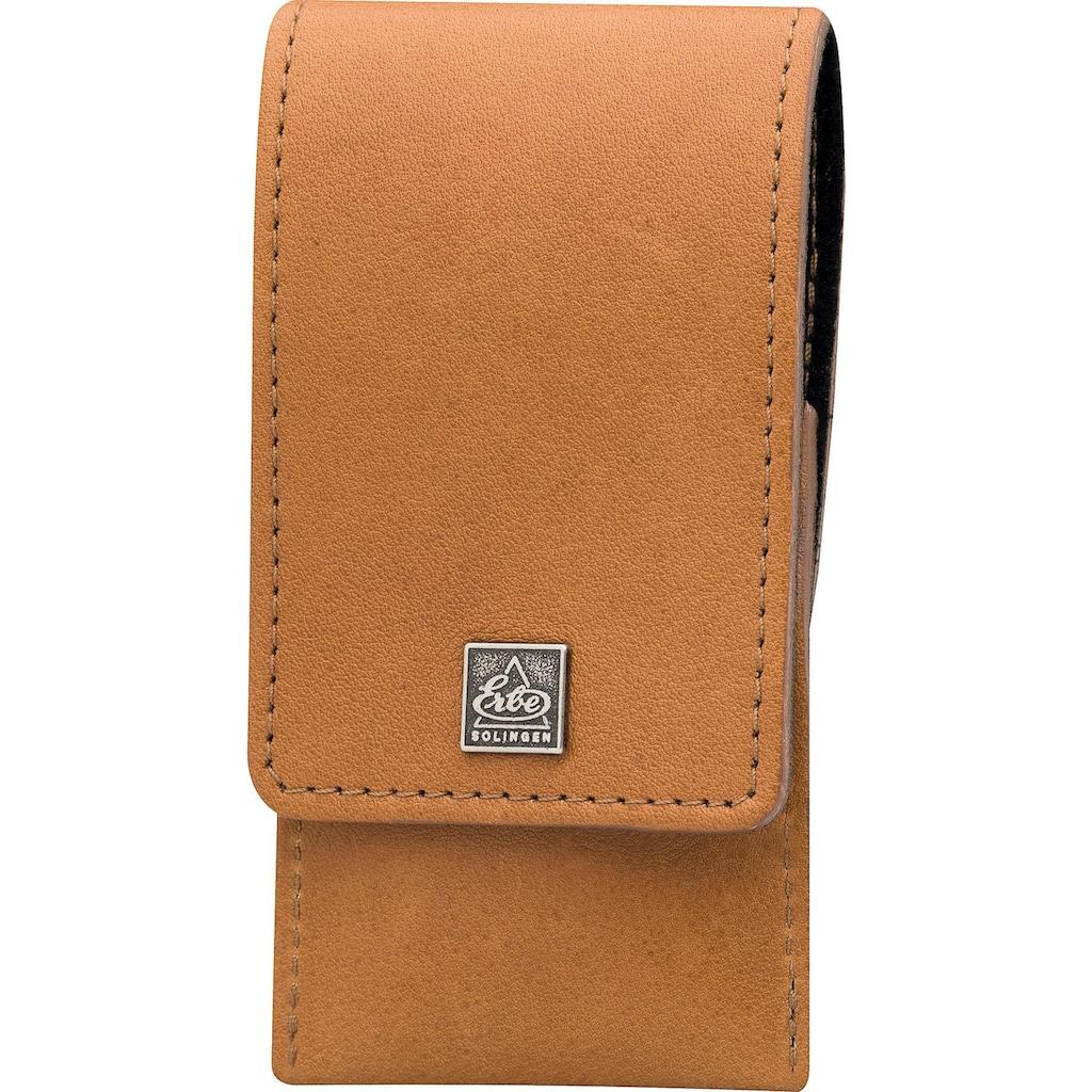 ERBE Maniküre-Etui »Taschenetui aus echtem Leder«, bestückt mit Solinger Premium Stahlwaren