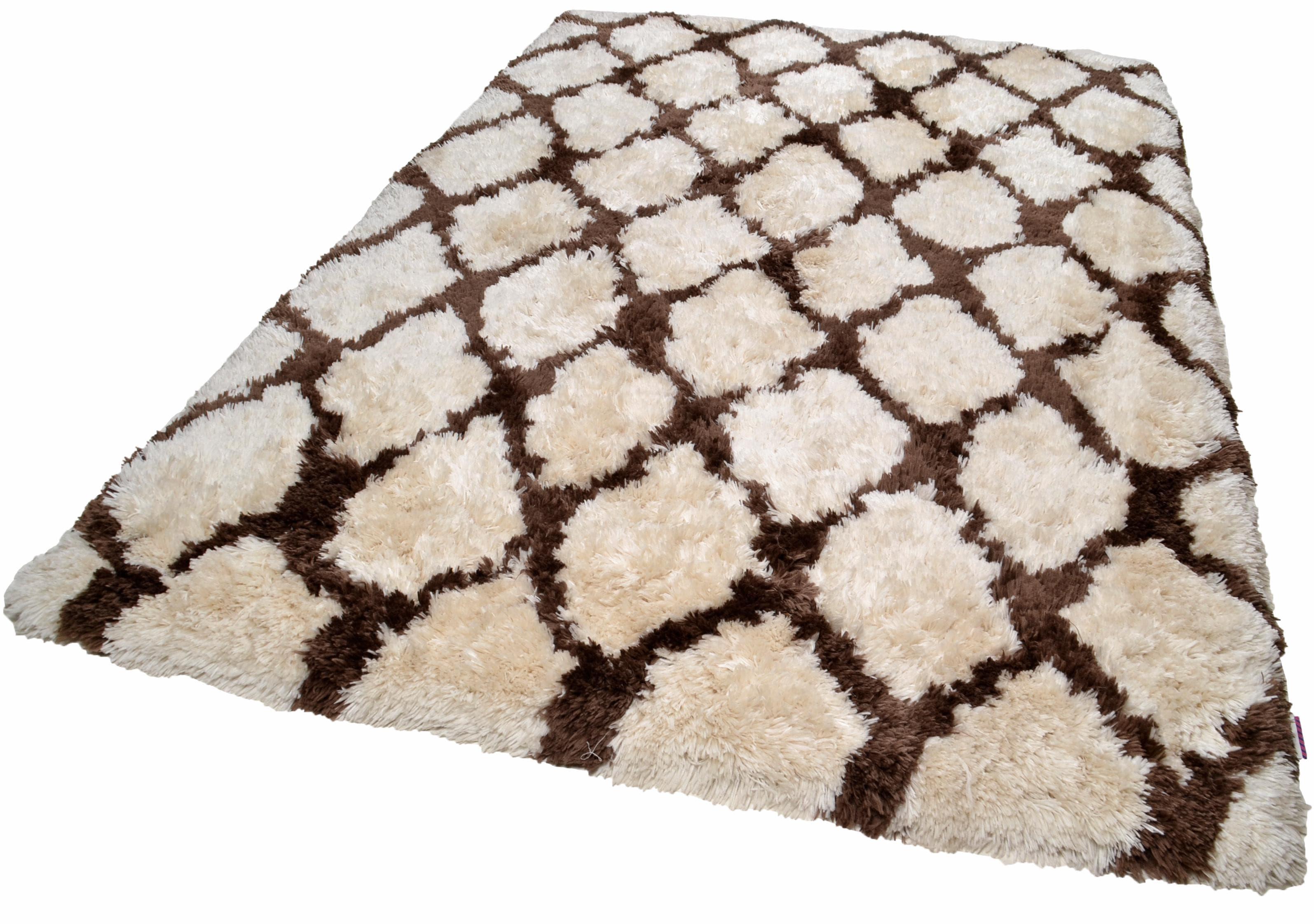 Hochflor-Teppich Flocatic Pattern TOM TAILOR rechteckig Höhe 65 mm handgetuftet