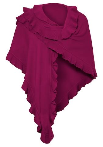 PURSET Schal, Trachtenponcho mit Rüschen kaufen