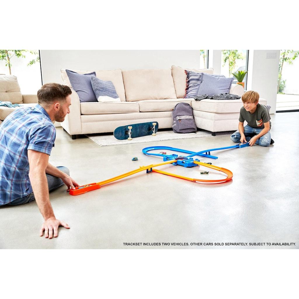 Hot Wheels Autorennbahn »Track Builder Unlimited Mega Stunt Box«, inkl. 2 Spielzeugautos