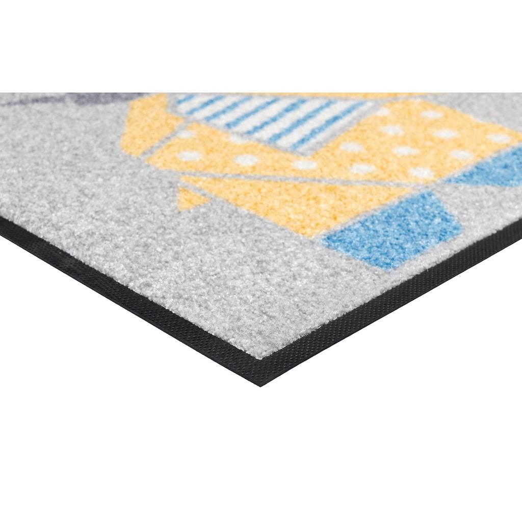 wash+dry by Kleen-Tex Läufer »Origami Animals«, rechteckig, 7 mm Höhe, In- und Outdoor geeignet, waschbar