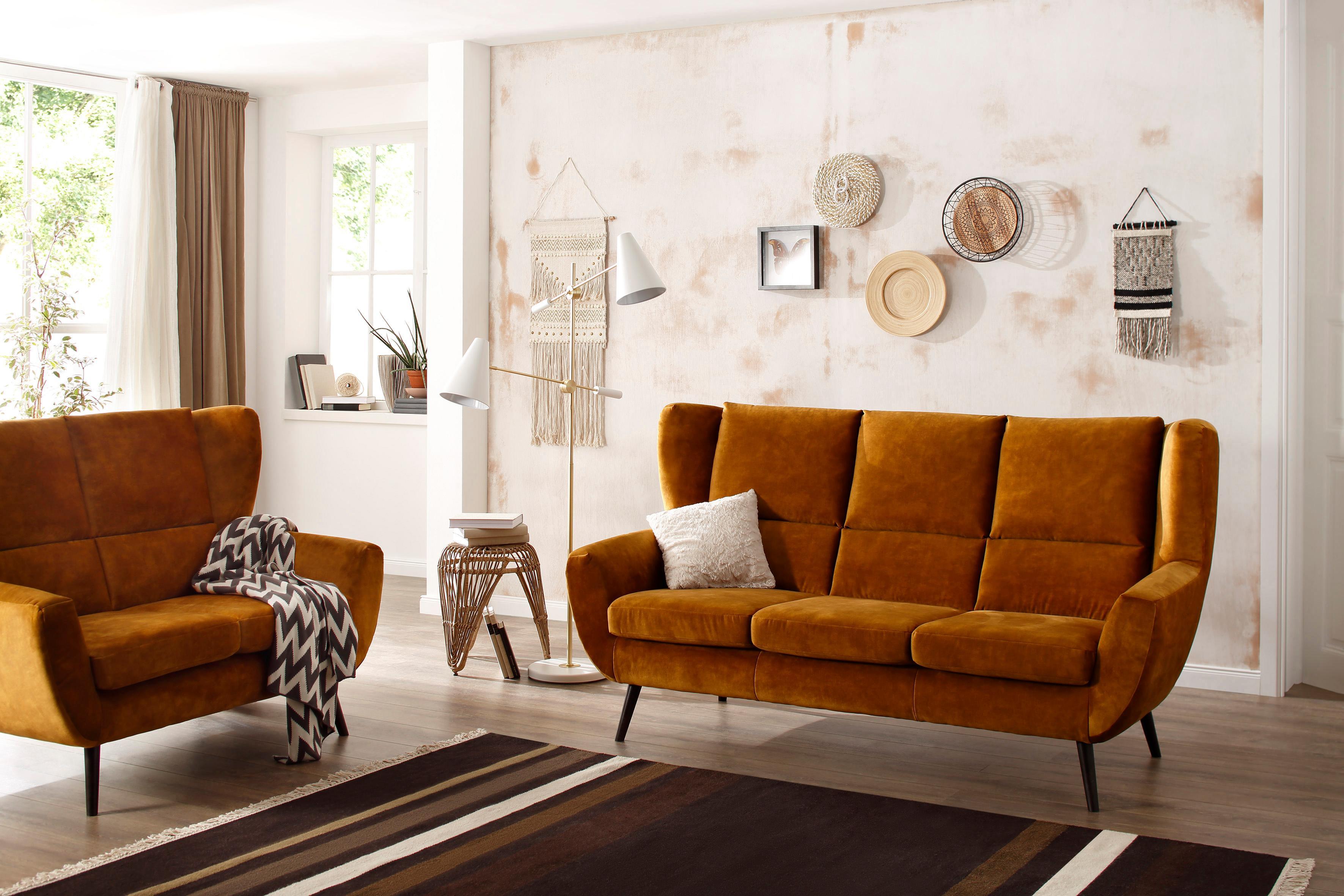 Home affaire 3-Sitzer Forli in Echtleder