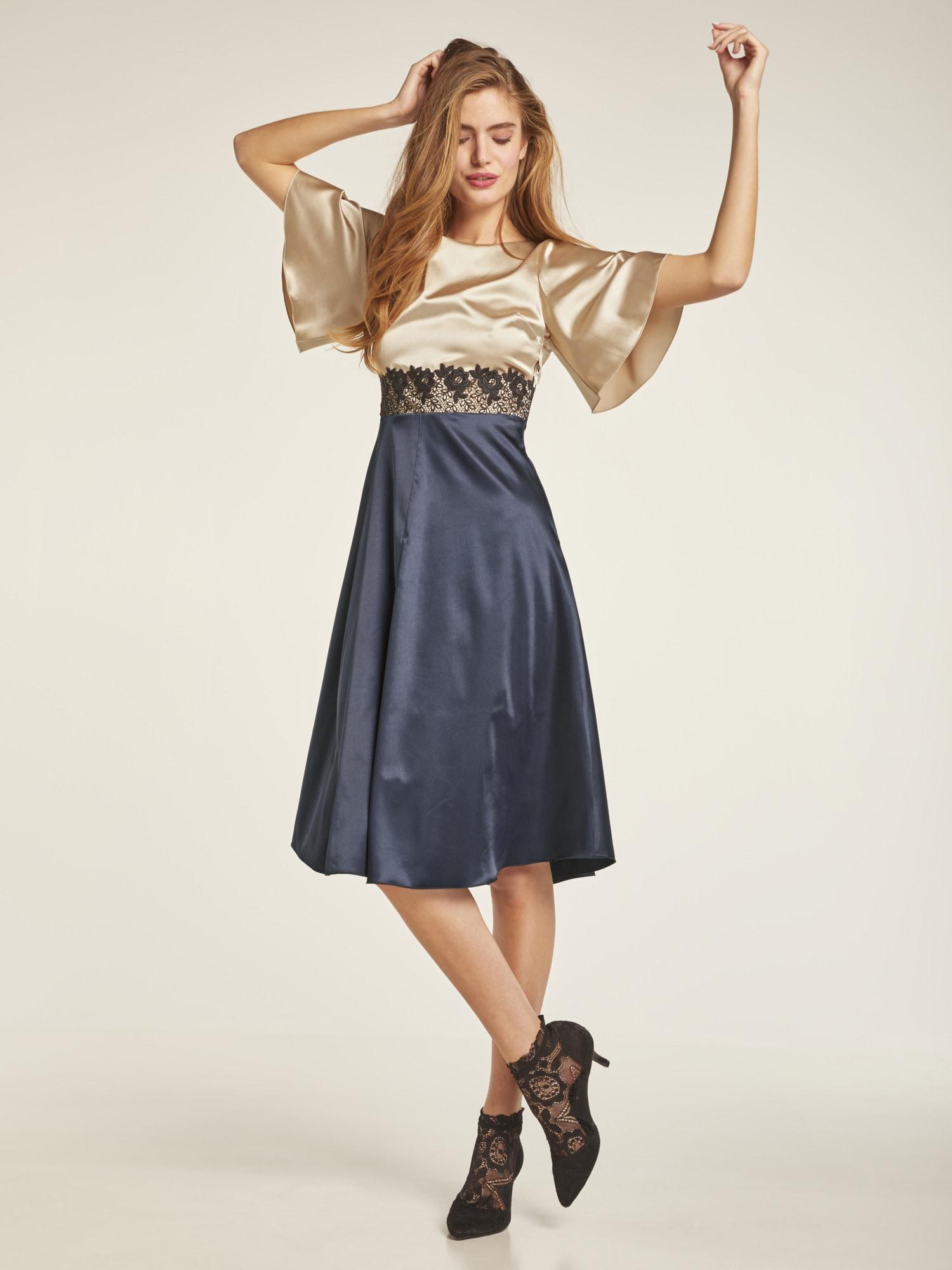 f9542595f64715 Bildquelle: heine STYLE Kleid mit hochwertiger Spitze