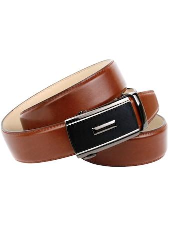 Anthoni Crown Ledergürtel, in trendigem Cognac-Ton kaufen