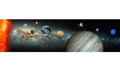 Papermoon Fototapete »Solar System Panorama«, matt, Vlies, 2 Bahnen, 350 x 100 cm kaufen