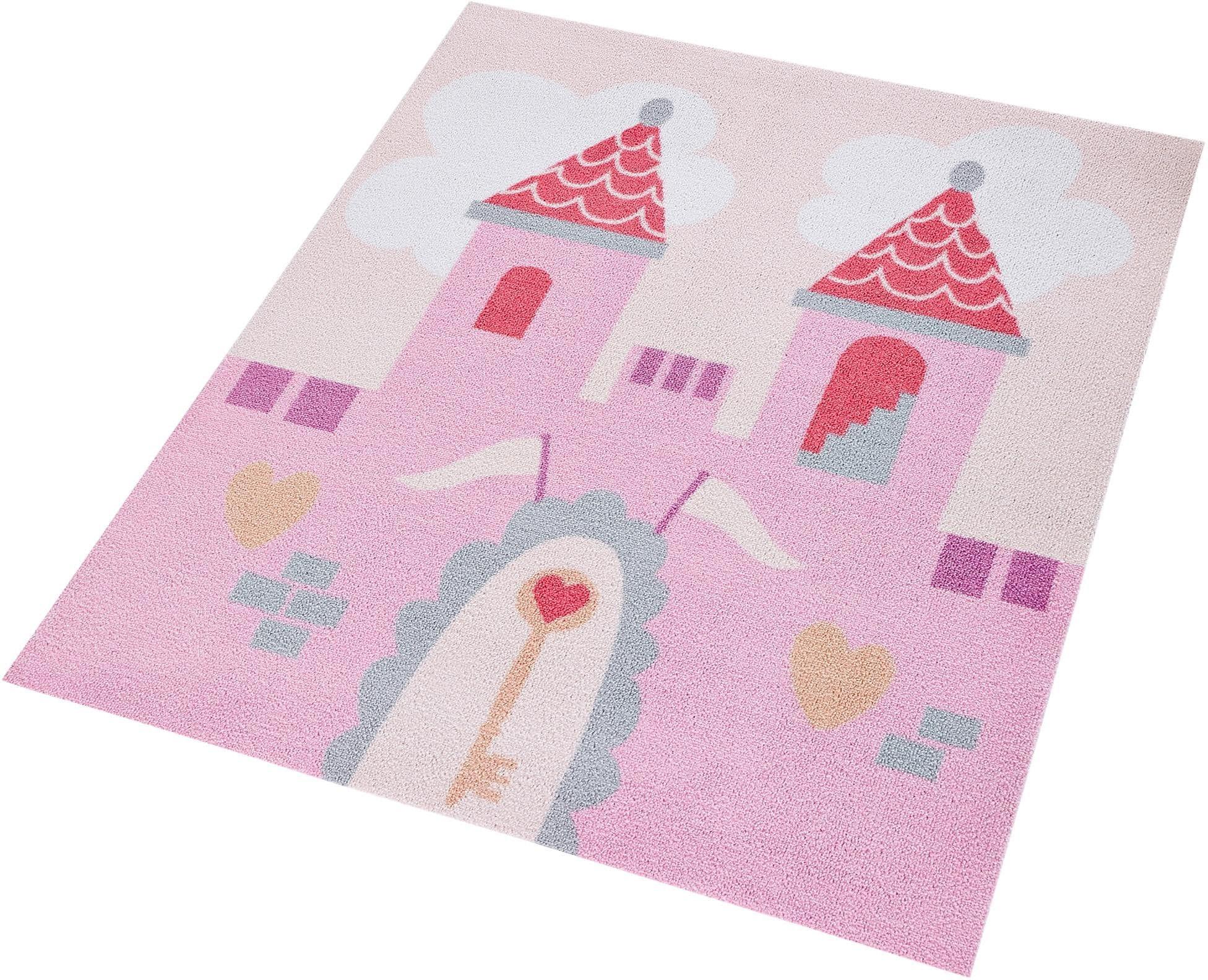 Kinderteppich Prinzessinschloss Zala Living quadratisch Höhe 7 mm