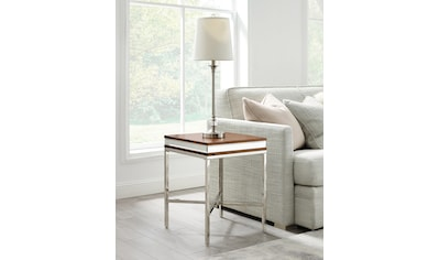 Leonique Beistelltisch »Adeline«, mit einer 7 cm starken Tischplatte, im Industrial-Look kaufen