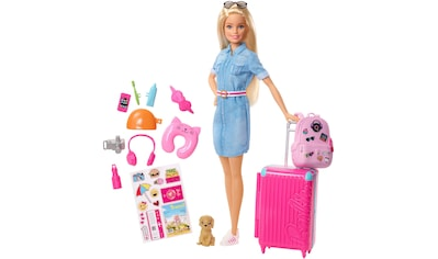 """Mattel® Anziehpuppe """"Barbie Reise Puppe, blond mit Zubehör"""" kaufen"""