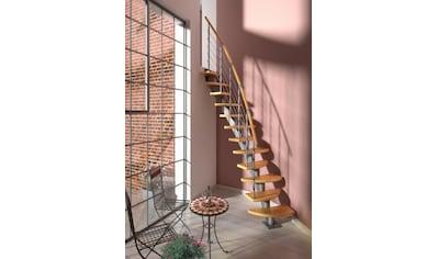 DOLLE Systemtreppe »Berlin«, Edelstahlgeländer mit Holzhandlauf aus Buche, BxH: 64x270 cm kaufen