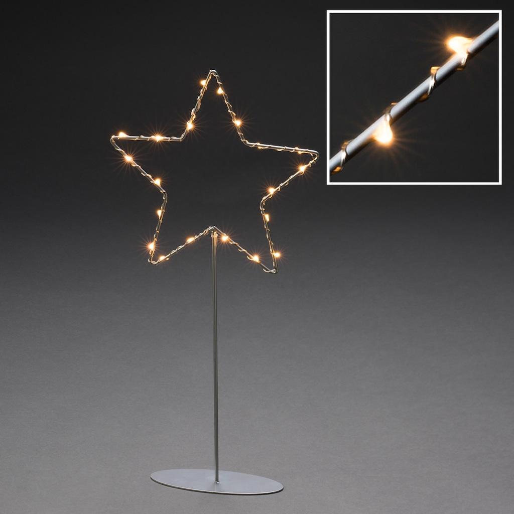 KONSTSMIDE LED Dekoobjekt, Metallstern mit Metall-Fuß