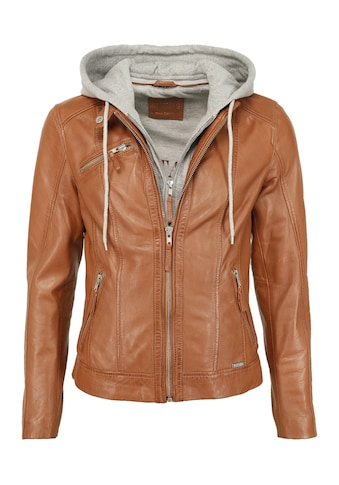 MUSTANG Lederjacke »31020148«, mit Kapuze kaufen
