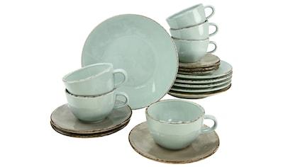 CreaTable Kaffeeservice »OSLO«, (Set, 18 tlg.), Antik-Look kaufen