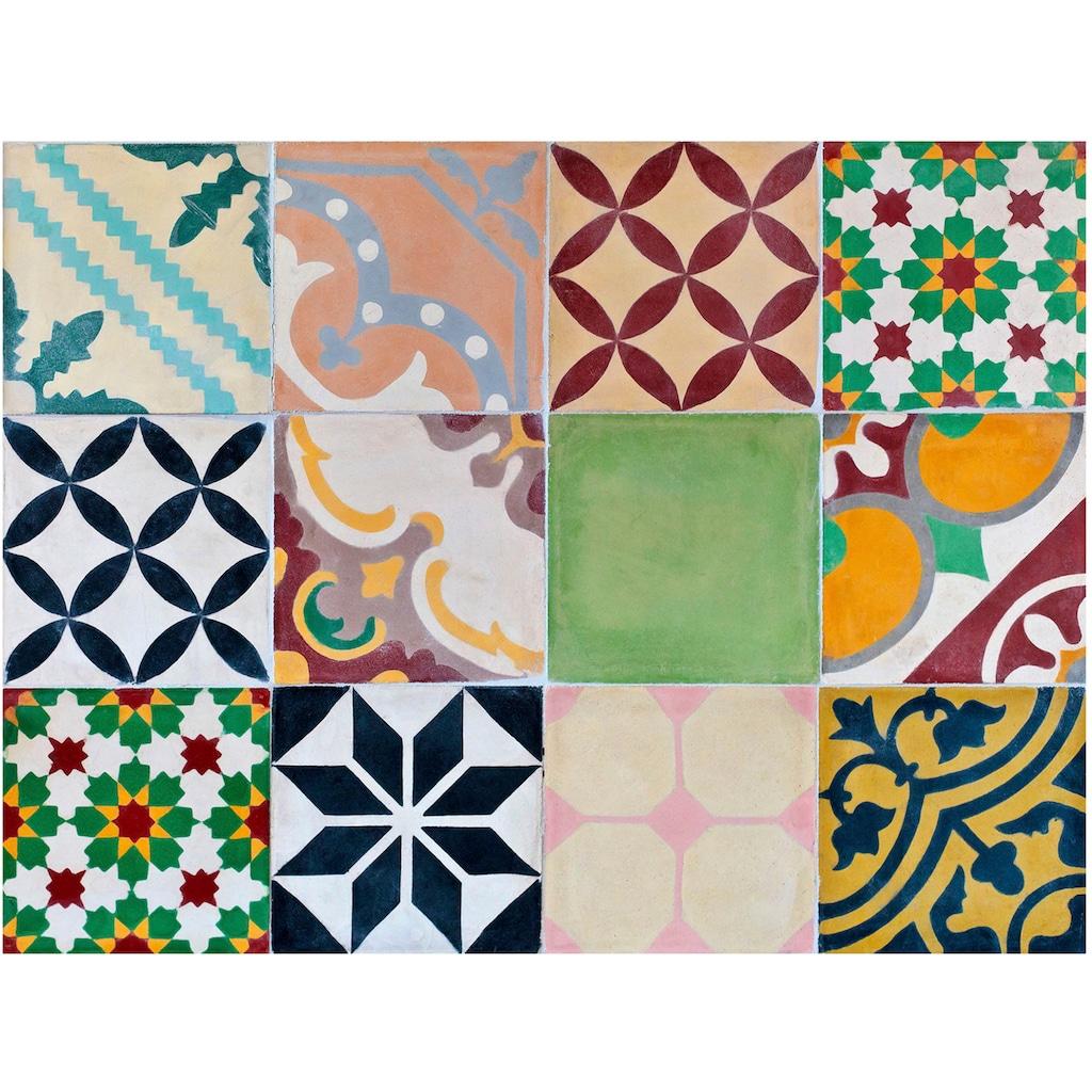 Contento Platzset »Mosaik, grün«, (Set, 4 St.), für innen und außen geeignet, wasserabweisend