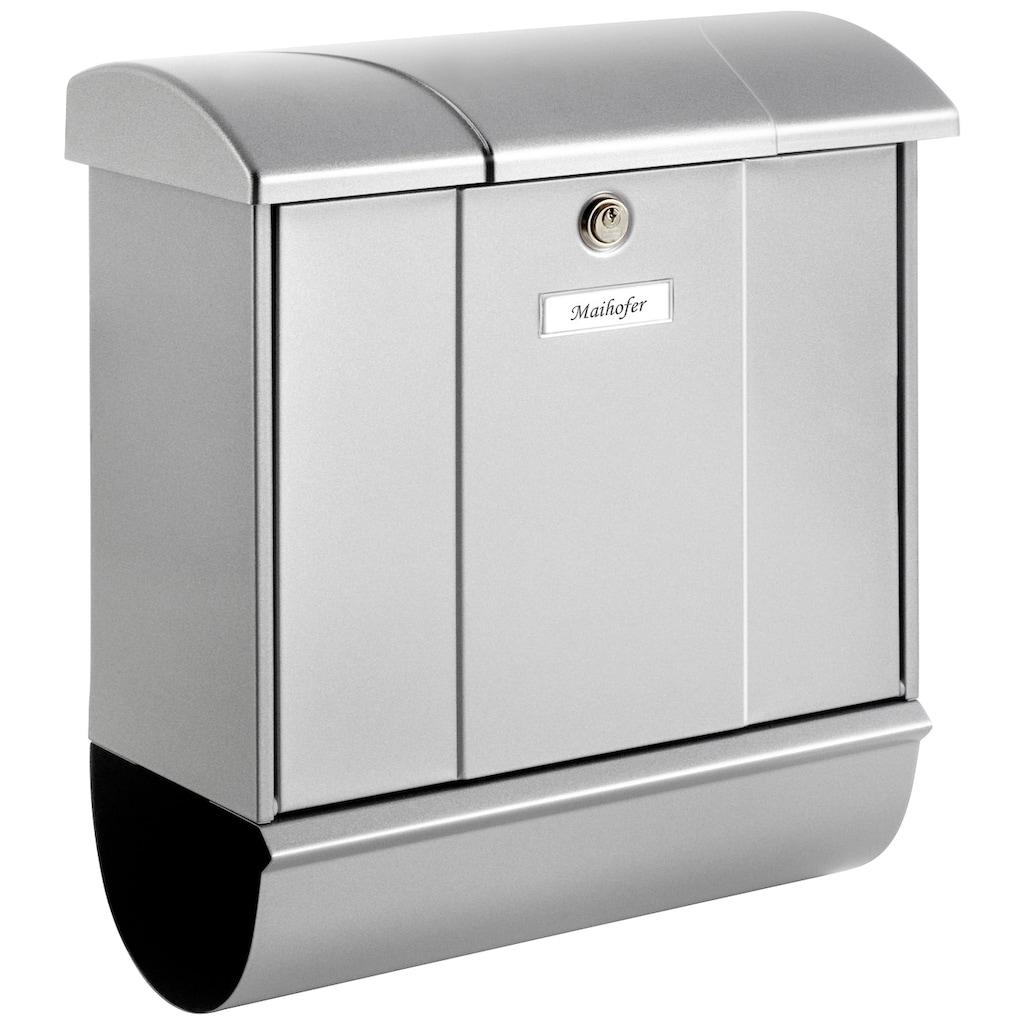 Burg Wächter Briefkasten »Olymp 91600 Si«, mit Öffnungsstopp und separatem Zeitungsfach, aus Stahlblech