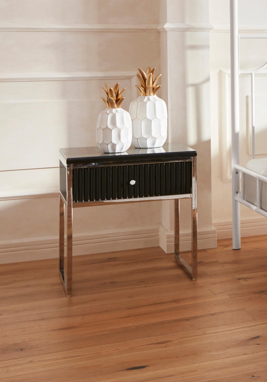 GMK Home & Living Nachttisch Passau mit Schublade | Schlafzimmer > Nachttische | Schwarz | Guido Maria Kretschmer Home&Living