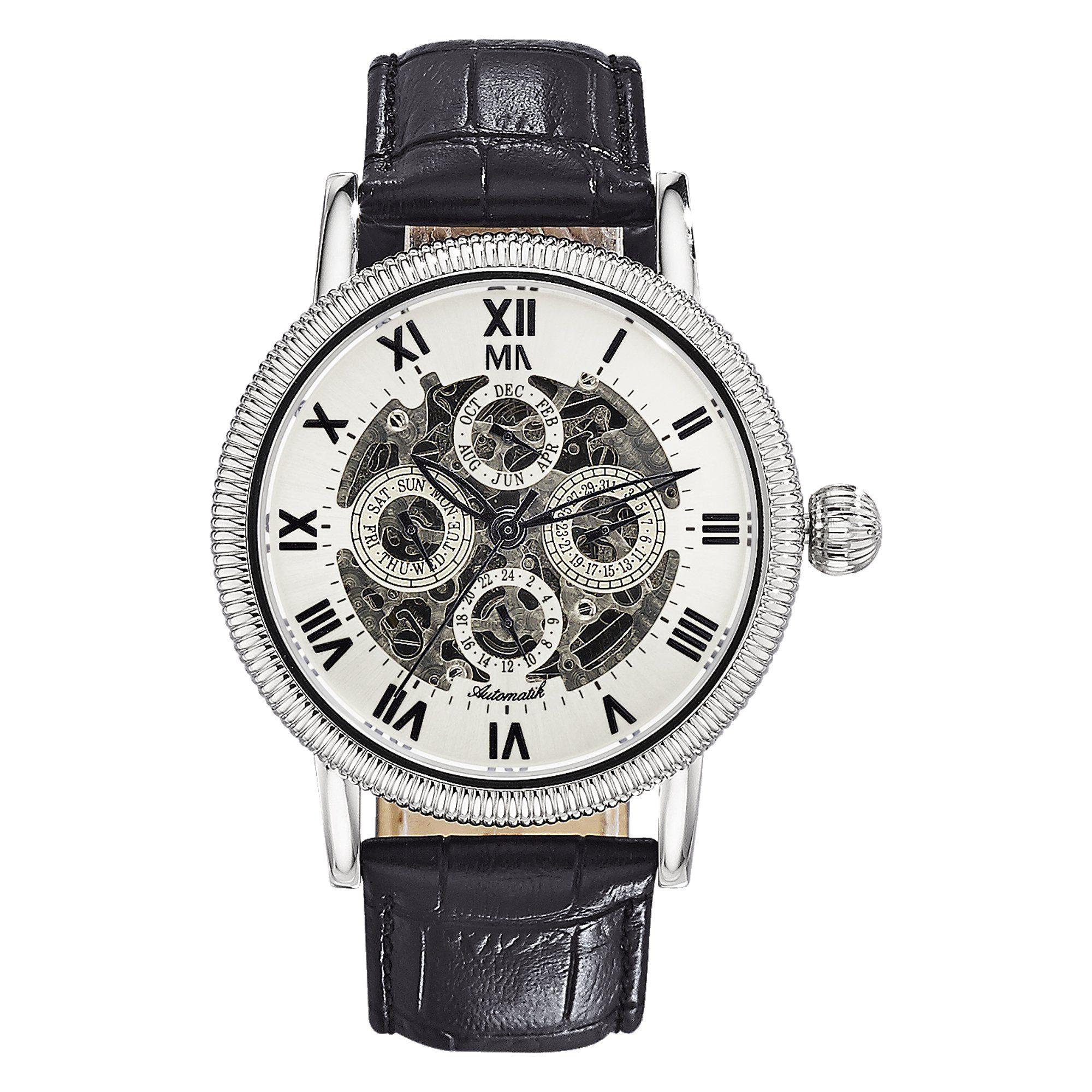 Meister Anker Automatikuhr Edelstahl | Uhren > Automatikuhren | Leder | Meister Anker