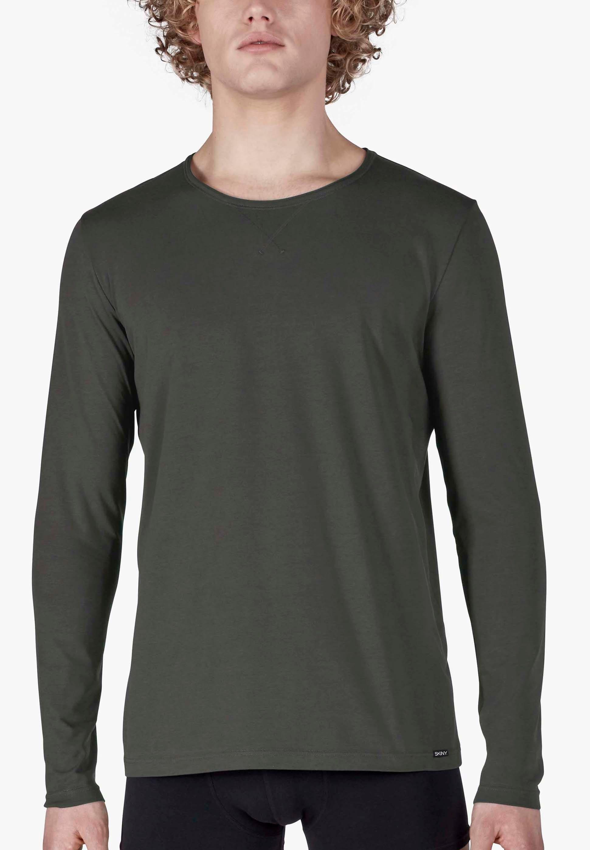skiny -  Langarmshirt mit modernem X-Stitching Sloungewear