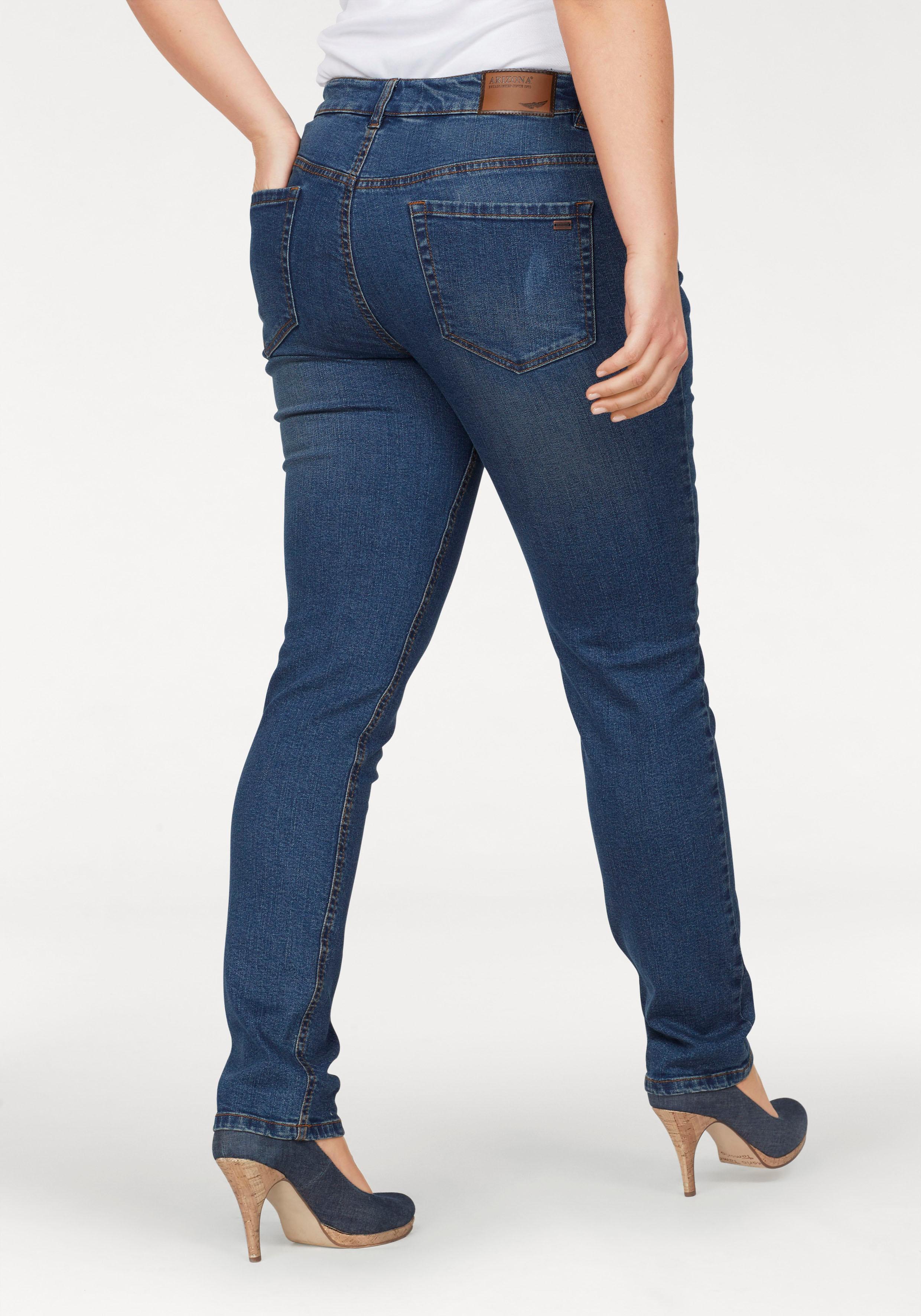 733e79c0664a3e Arizona Slim-fit-Jeans Svenja - Bund mit seitlichem Gummizugeinsatz