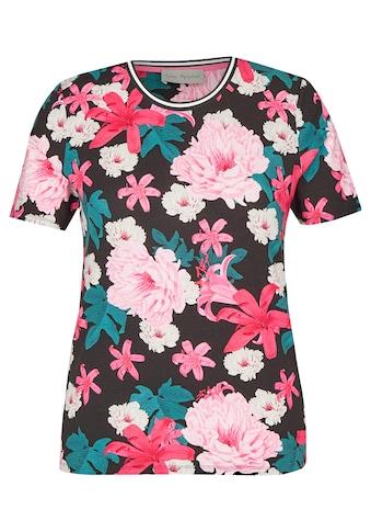 VIA APPIA Fröhliches T - Shirt mit floralem Muster kaufen