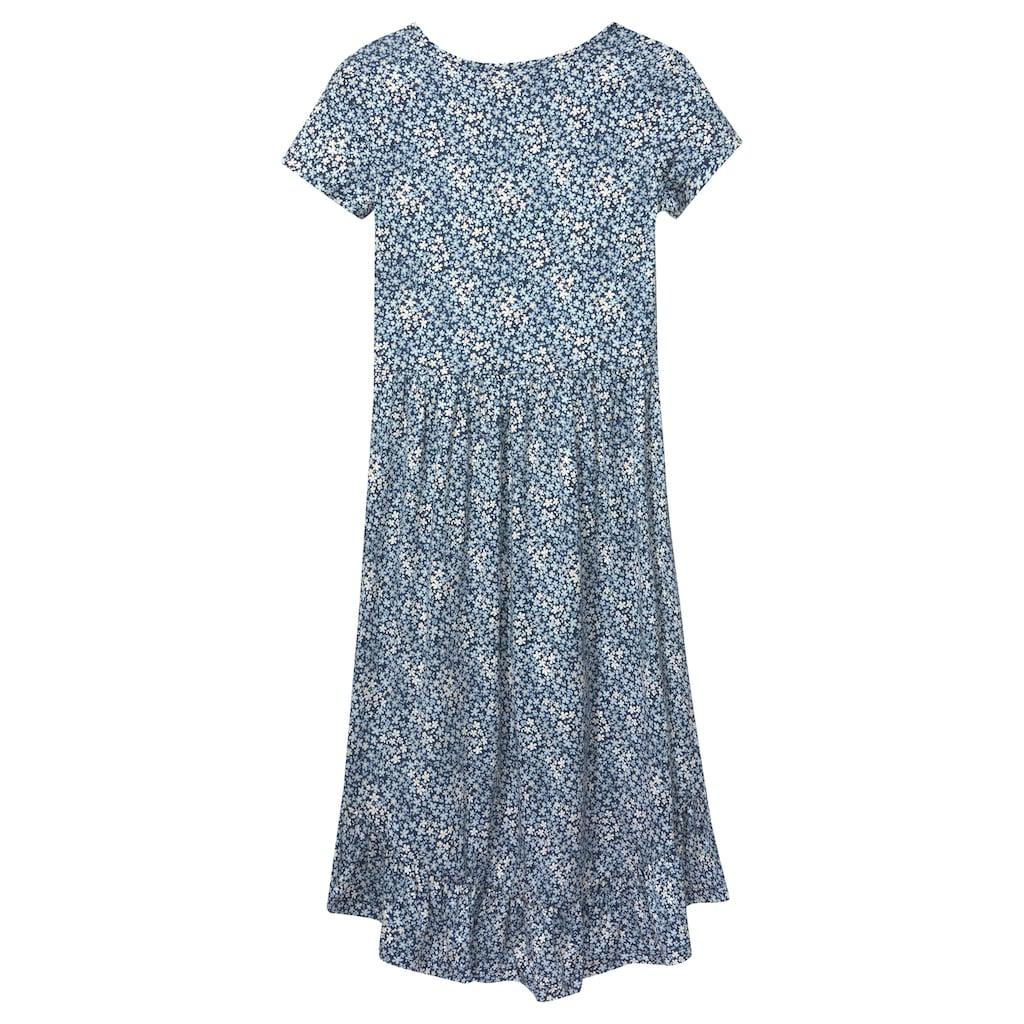 Arizona Vokuhila-Kleid, mit Volant am Saum
