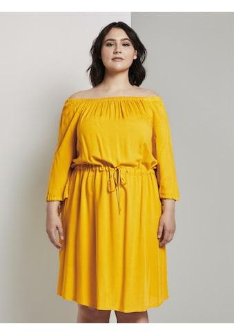 TOM TAILOR MY TRUE ME Sommerkleid »Schulterfreies Midi - Kleid mit verstellbarem Bund« kaufen