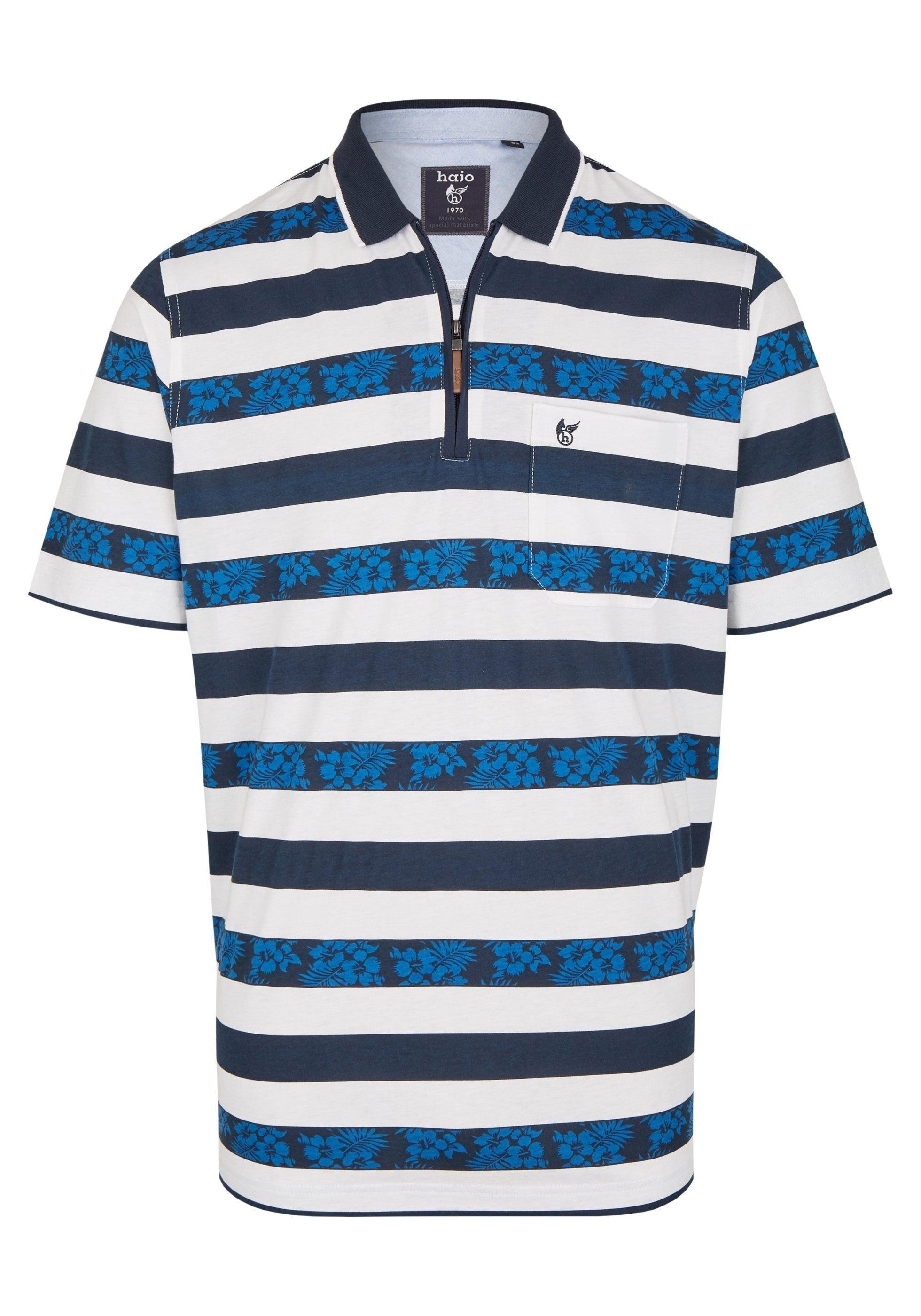 Hajo Stay Fresh Poloshirt mit Flachstrickkragen und Brusttasche online bestellen