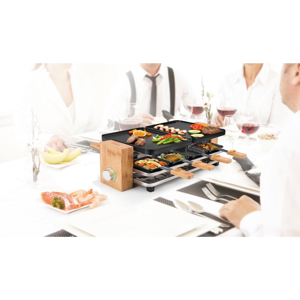 PRINCESS Raclette »Pure 8  162910«, 8 St. Raclettepfännchen, 1200 W