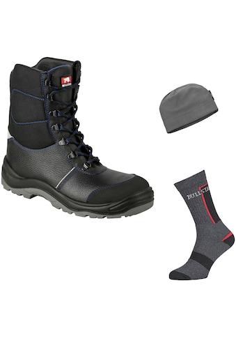 Bullstar Sicherheitsstiefel, Winter-Vorteilspack mit Socken und Mütze, S3 kaufen
