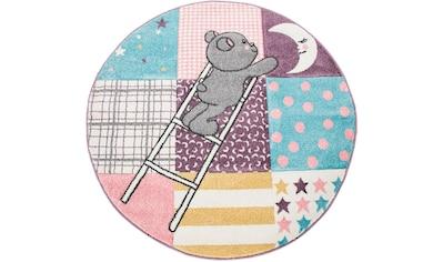 Paco Home Kinderteppich »Ela 399«, rund, 17 mm Höhe, mit Konturenschnitt kaufen