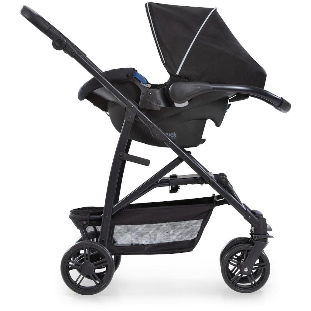 Hauck Kombi-Kinderwagen »Rapid 4 Plus TrioSet, caviar/black«, mit Babyschale; Kinderwagen