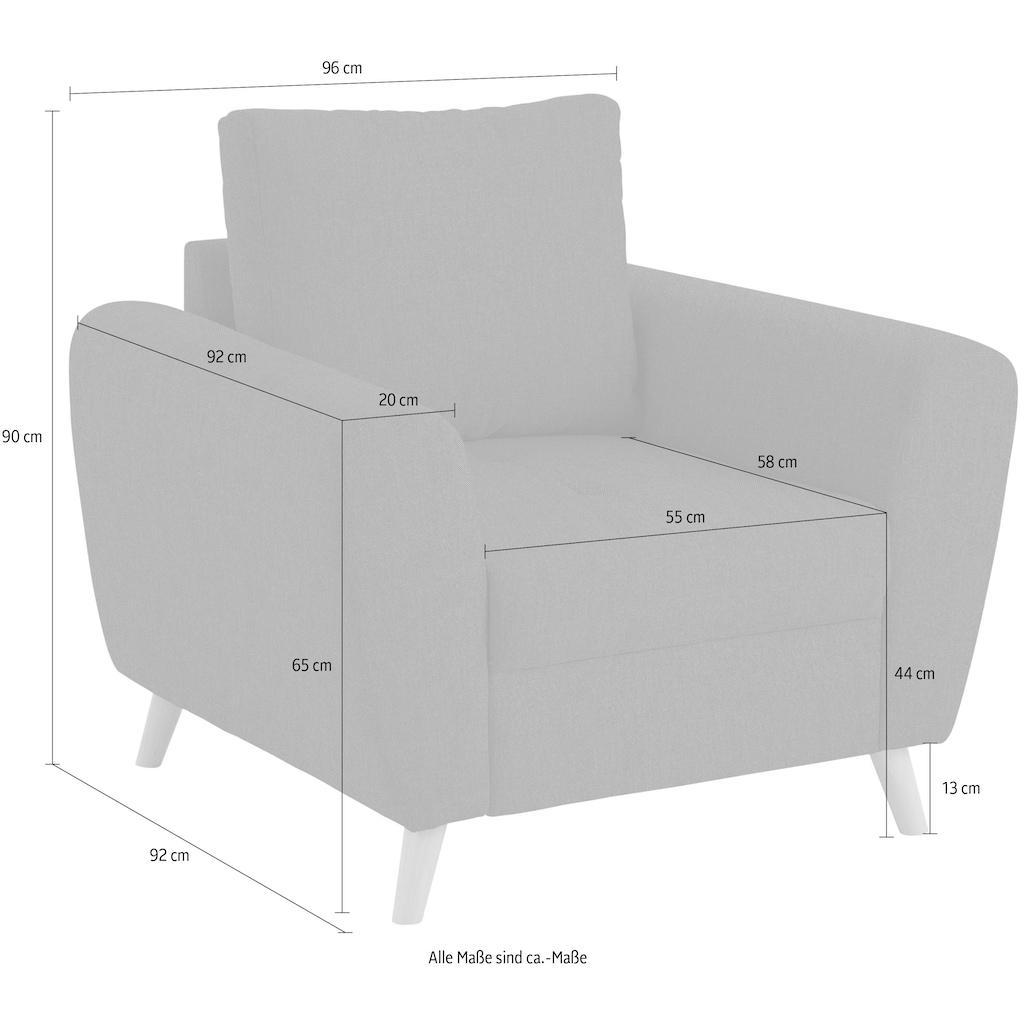 Home affaire Sessel »Blackburn Luxus«, mit besonders hochwertiger Polsterung für bis zu 140 kg pro Sitzfläche