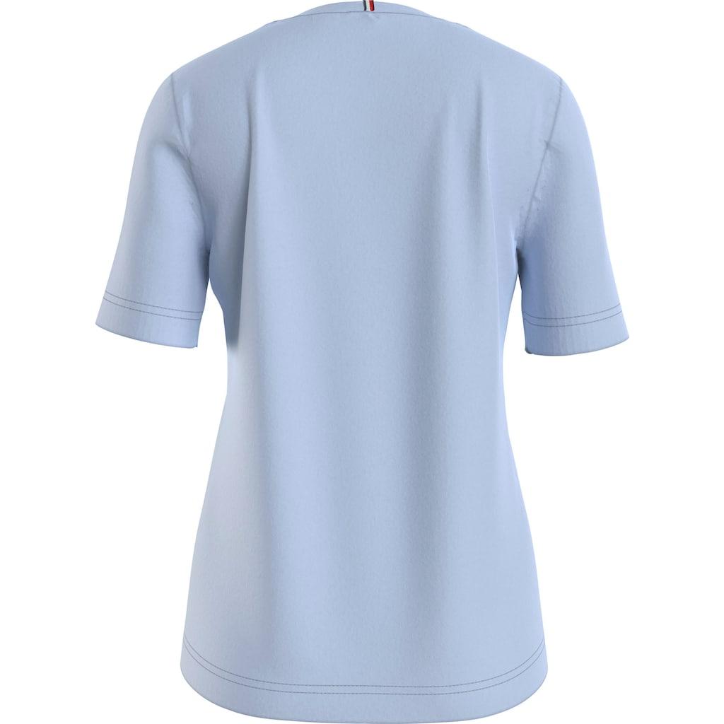 Tommy Hilfiger Rundhalsshirt »CREW NECK GRAPHIC TEE«, mit verspieltem Tommy Hilfiger Logo-Schriftzug