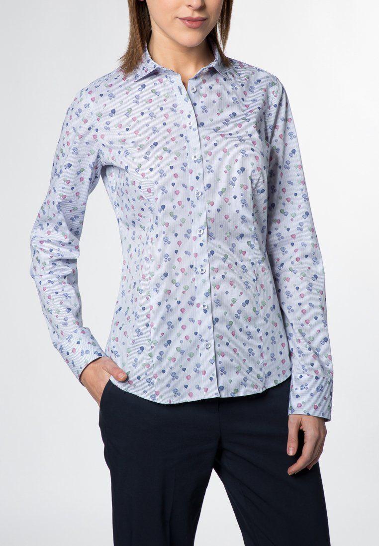Eterna Langarm Bluse für grosse Frauen SLIM FIT
