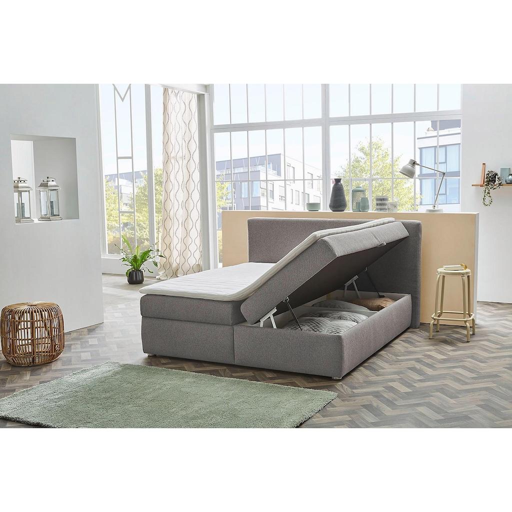 Jockenhöfer Gruppe Polsterbett, mit Bettkasten und Topper