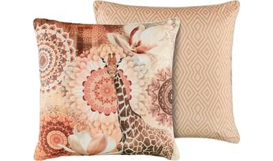 hip Dekokissen »Rivkah«, mit Mandalas und Giraffe kaufen