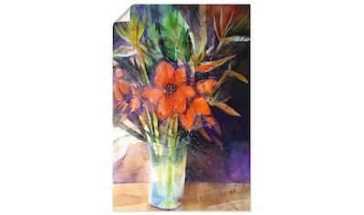 Artland Wandbild »Amaryllis und Strelizien in Vase« kaufen