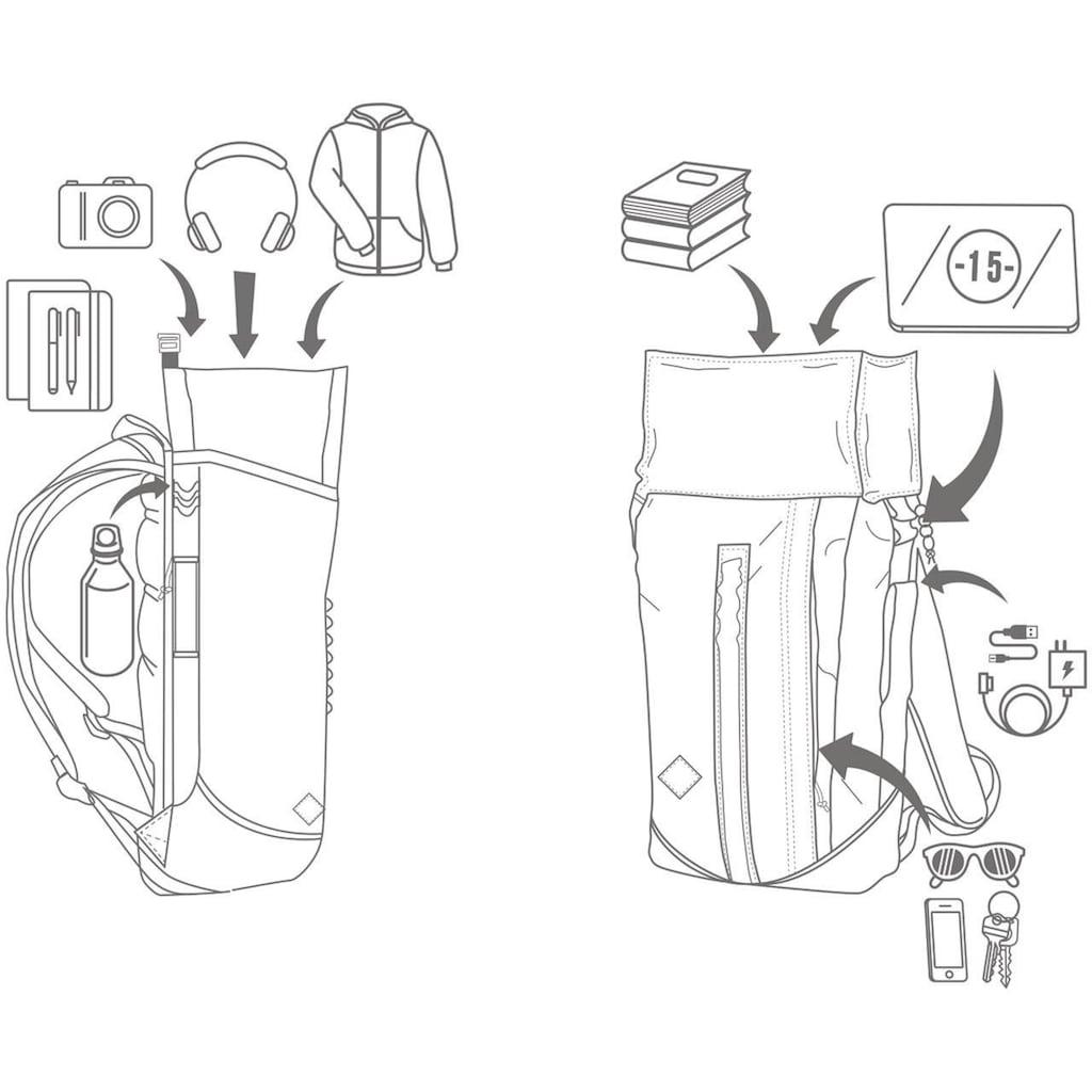 NITRO Freizeitrucksack »Scrambler, Indigo«, mit Laptopfach