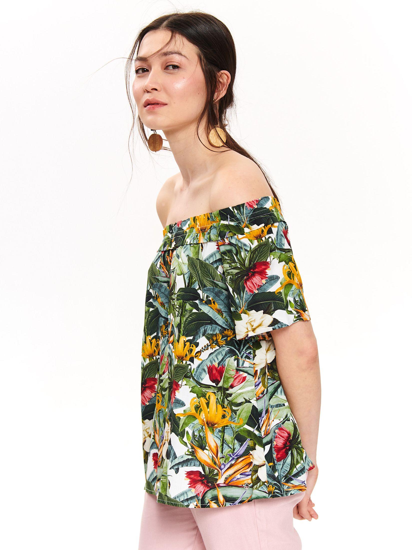 TOP SECRET Schlupfbluse im floralen Design