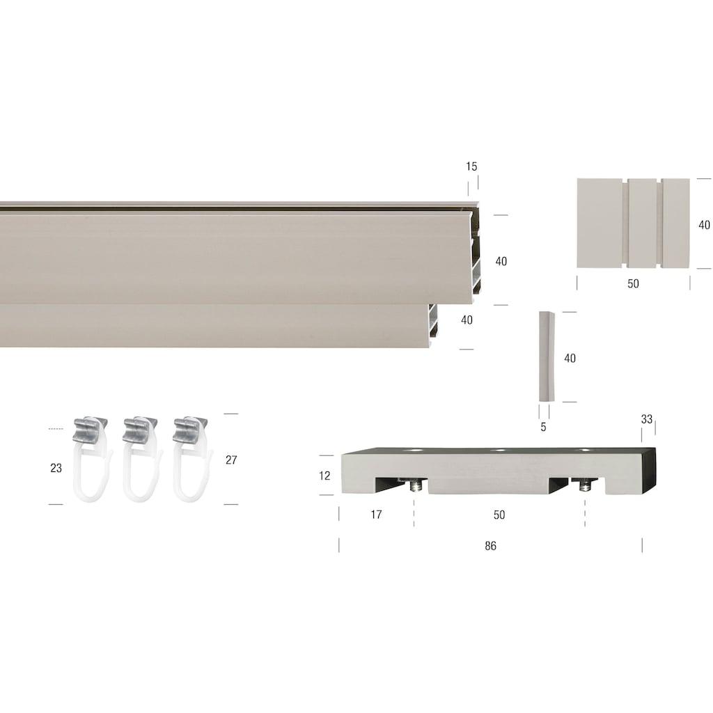 GARESA Gardinenstange »Flat«, 2 läufig-läufig, Wunschmaßlänge