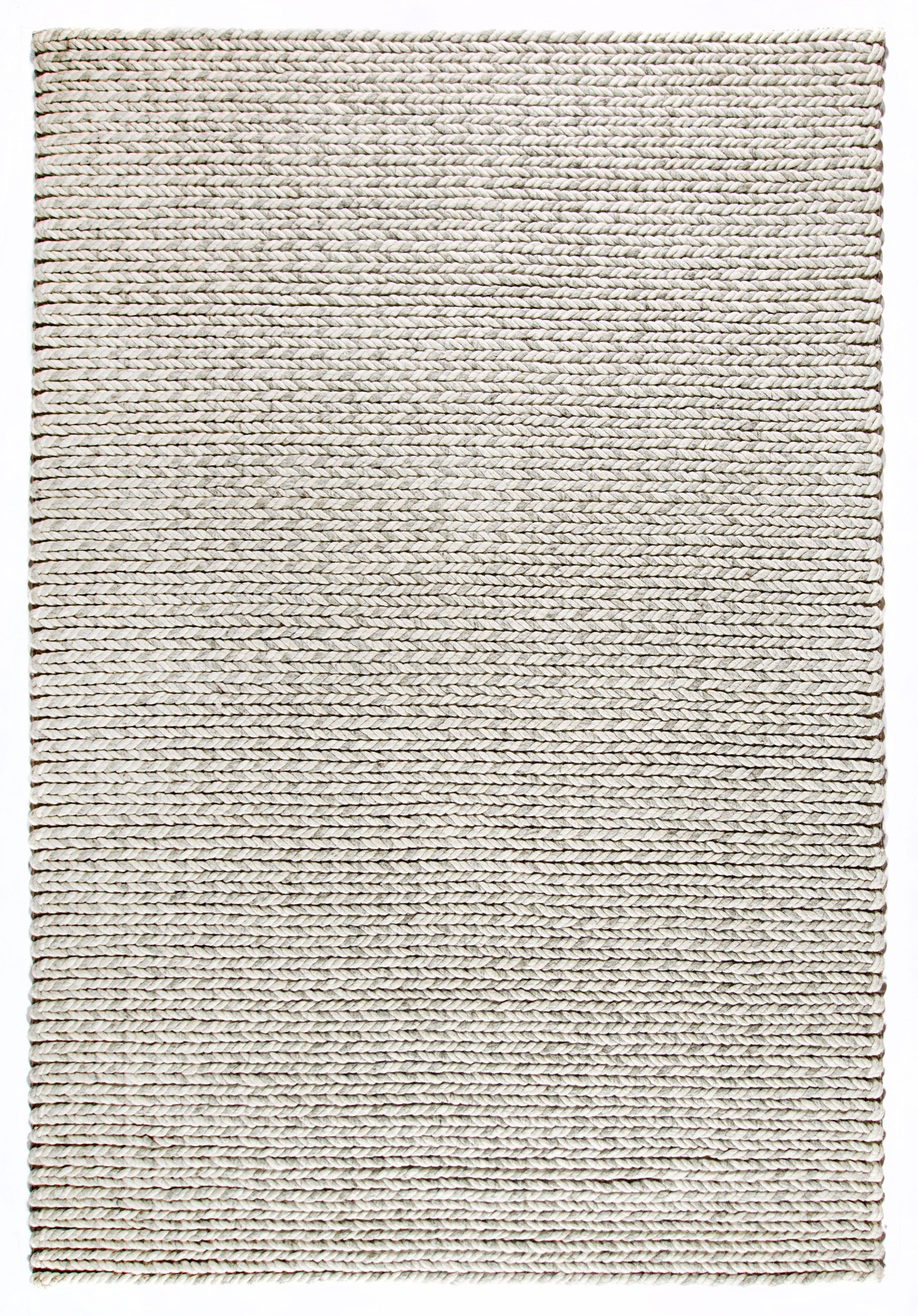Dekowe Hochflor-Teppich Enja, rechteckig, 25 mm Höhe, Strickoptik, Wohnzimmer grau Esszimmerteppiche Teppiche nach Räumen