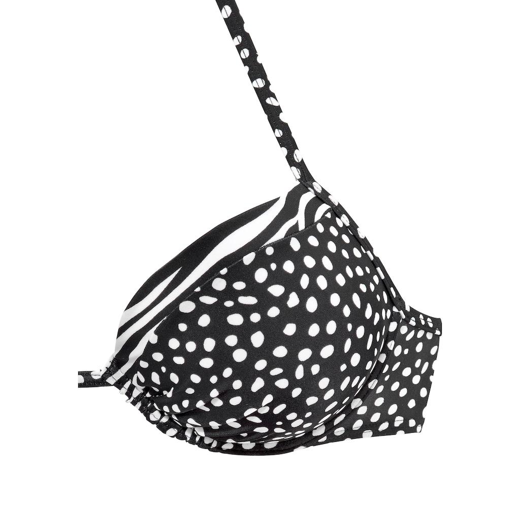 LASCANA Push-Up-Bikini-Top »Safari«, mit Mustermix