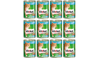KITEKAT Set: Nassfutter »Rind in Sauce«, für Katzen, 12 Dosen á 400 g kaufen