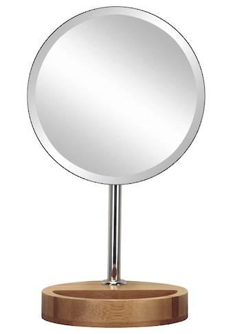 KLEINE WOLKE Kosmetikspiegel »Timber Mirror«, mit Bambus - Fuß kaufen