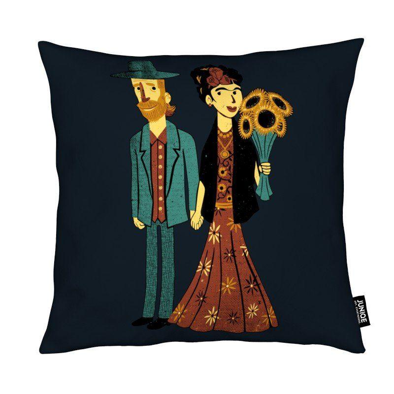 Dekokissen Love Is Art Frida Kahlo and Van Gogh Juniqe