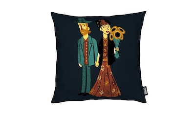 Dekokissen, »Love Is Art Frida Kahlo and Van Gogh«, Juniqe kaufen