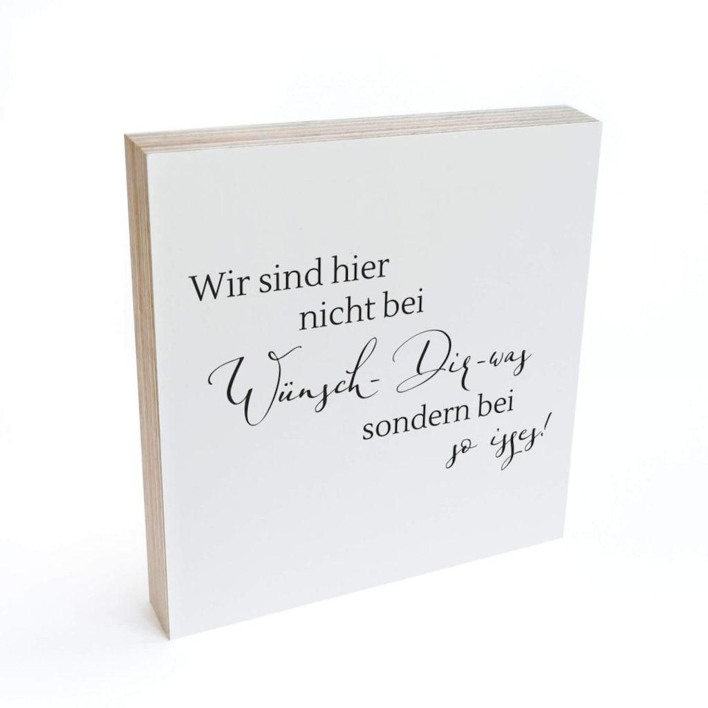 Wall-Art Holzbild »Tischdeko mit Spruch Holzdeko«, (1 St.)