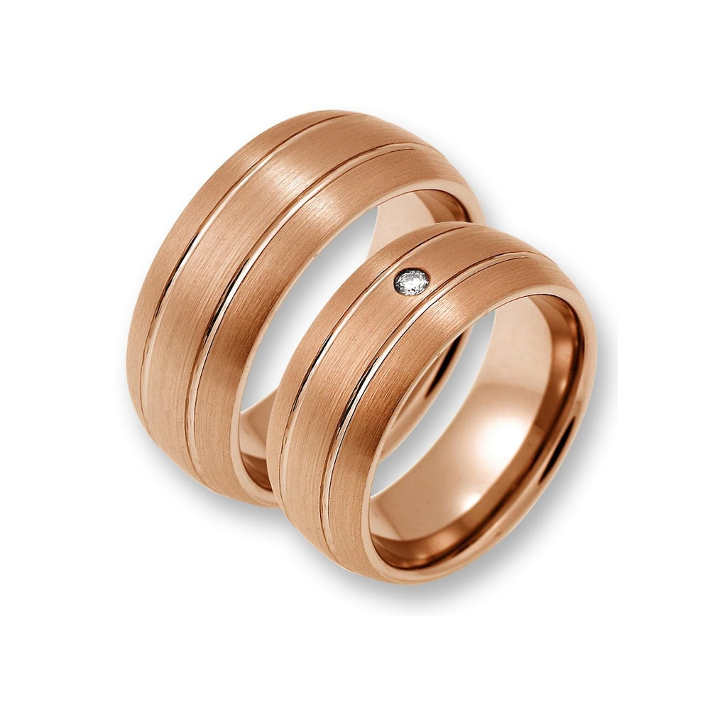 CORE by Schumann Design Trauring »TW023.17/19104864, TW023.16/19104862«, wahlweise mit oder ohne Zirkonia, Made in Germany