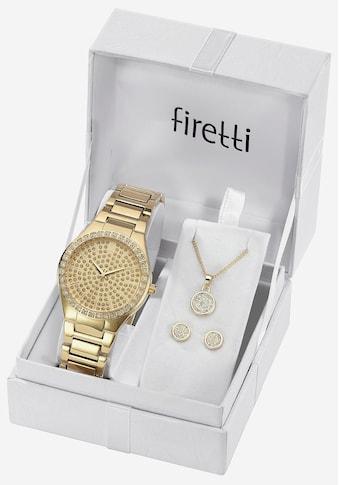 Firetti Quarzuhr »TLA - 91305 - Set« (Set, Uhr mit 2 Ohrstecker und Kette mit Karabineranhänger) kaufen