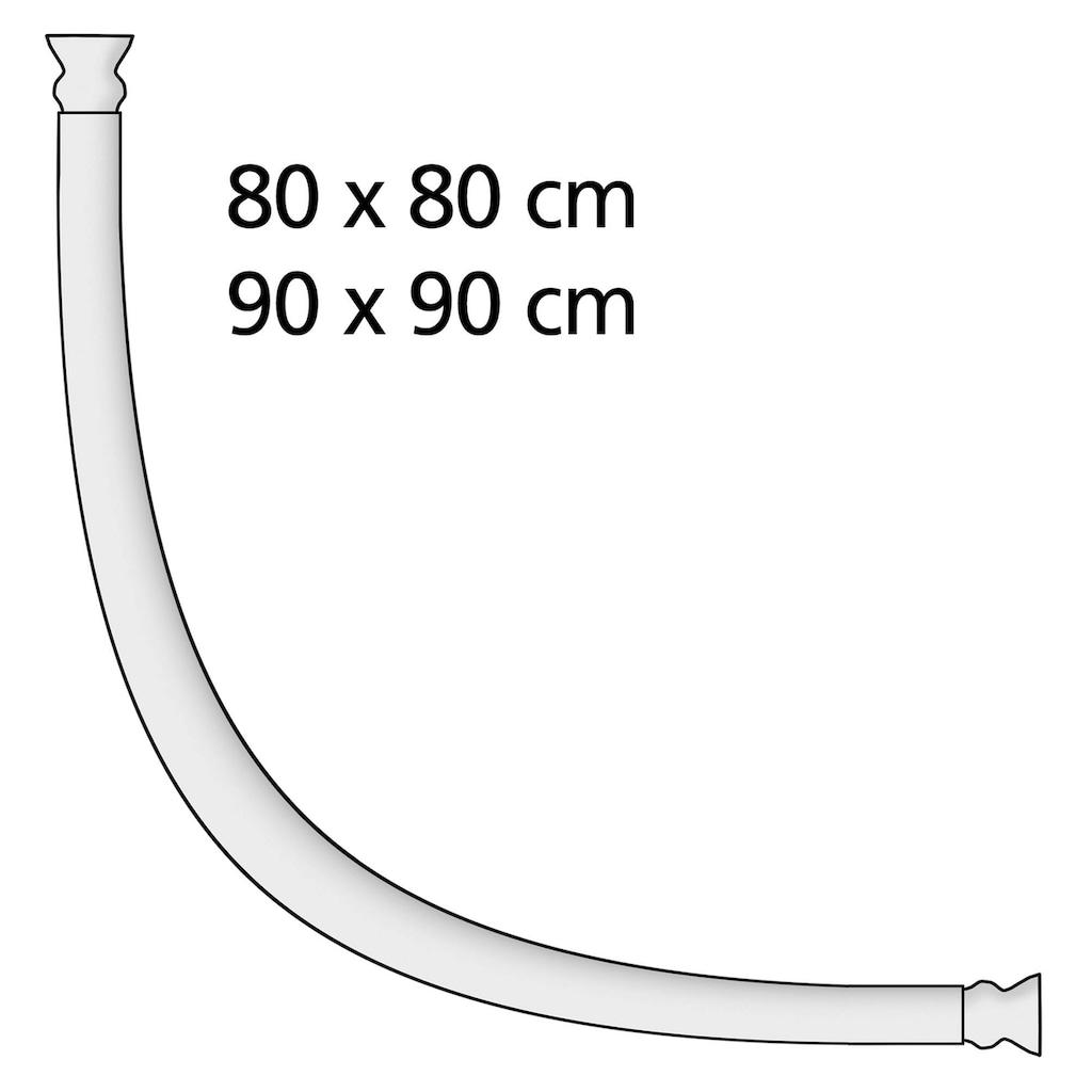 WENKO Bogenstange »Rundduschstange Chrom«, Fixmaß