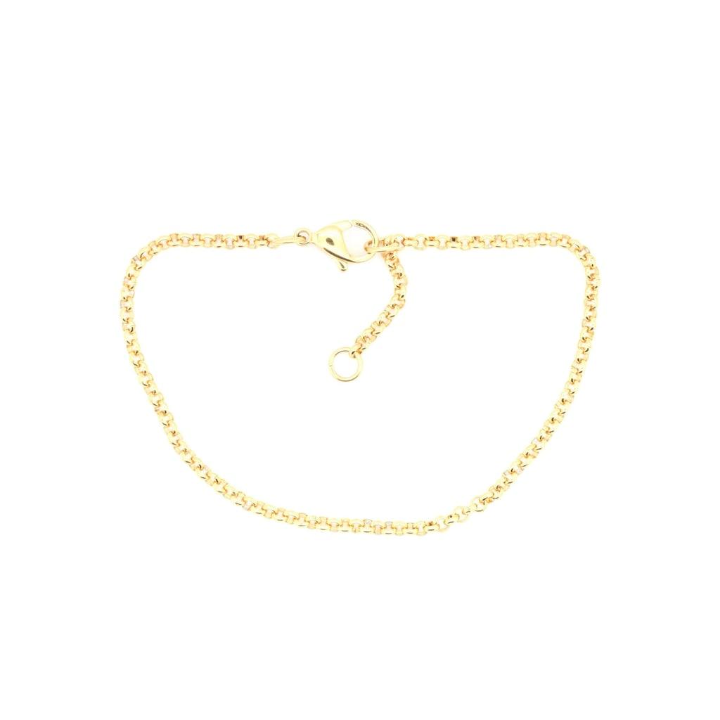 Firetti Edelstahlarmband »Erbskettengliederung, 2,4 mm breit, gelbgoldfarben«, Made in Germany
